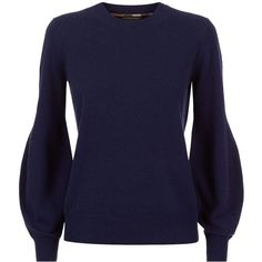 Burberry Runway Round Neck Cashmere Sweater ($605) ❤ liked on Polyvore featuring tops, sweaters, burberry tops, cashmere sweater, burberry, cashmere tops and round neck top