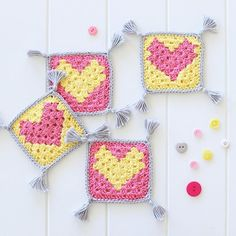Good morning!! ☺did you know these quick and easy crochet heart coasters I designed are in @molliemakes magazine this month