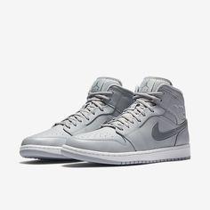 online store c666d 00d42 Nike Air Jordan 1 Mid Mens New Gray White Shoes 554724 033 Retro Multi  Sizes