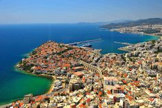 Kavala is the principal seaport of eastern Macedonia, Greek tourism , city in Greece Greece Travel, Oh The Places You'll Go, Cool Photos, Amazing Photos, Travel Destinations, Scenery, Around The Worlds, Explore, City