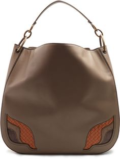 769f68d009 BOTTEGA VENETA Contrast-insert leather shoulder bag Calf Leather