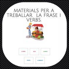 Materials per a treballar sintaxi i morfosintaxi Colegio Ideas, Cats Cast, Story Cubes, Math Concepts, Lectures, Conte, Learn To Read, Legos, Valencia