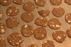 Bageplade med brunkager efter modificeret opskrift fra La Glace
