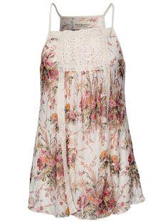 Vint Bib - Denim & Supply Ralph Lauren - Floral - Tops - Kleding - Vrouw - Nelly.com