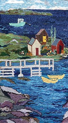"""The Fisheries Museum of the Atlantic, Lunenburg, Nova Scotia (UNESCO World Heritage Site) was the setting for """"Dory Stories Hooked Rug Show,"""" sponsored by the Rug Hooking Guild of Nova Scotia. Committee co-chairs were Linda Alderdice and Heather Gordon.<br /> <br /> Dory races are part of our heritage in Nova Scotia so the theme """"Dory Stories Hooked Rug Show"""" was aligned with the 64th Annual International Dory Races that take place every year in Glouceste..."""