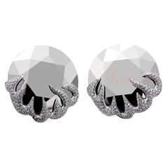 CHOPARD Golden Diamond Collection White Gold Earrings