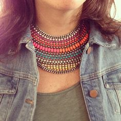 A colorful necklace to dress up your everyday! #styleeveryday