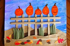 Five little pumpkins sitting on a gate.  Oh how I get this stuck in my head when the first graders learn this in music!