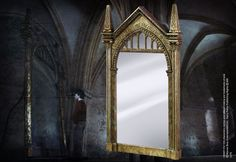 """The Mirror of Erised. 16.5"""" x 8.5"""" A really cool prop we can use somewhere. We can even write on it. The mirror is meant to show your hearts """"truest desire"""""""