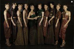 Gosh I love all of this! Batik dresses.  Latest 2011 Indonesian Batik by Priyo Oktaviano, Jakarta Fashion Week
