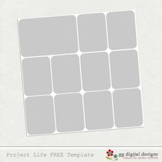 free digital template for project life and her suggested fonts: Ostrich Sans, Courier New, Century Gothic, & KG Eyes Wide Open  Lobster2  Chunk 5