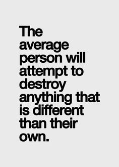Don't be average.