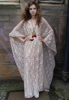 Gorgeous lace caftan.