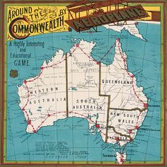 'Around the Commonwealth by Aeroplane' board game, 1910.      The Northern Territory wasn't separated from South Australia until 1911.