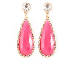 Claire Earrings in Soft Fuchsia