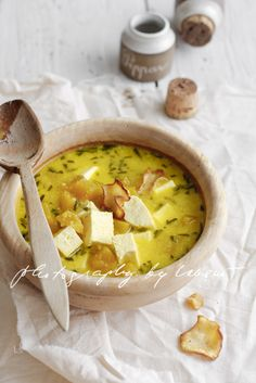Pumpkin Soup | Flickr - Photo Sharing! rosemary, paneer, parsnip chips, etc..