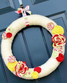 Decorating for Summer: Front Door Wreath