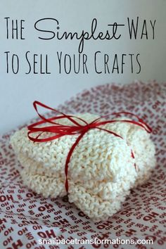 Sewing Projects To Sell The simplest way to sell your crafts. Takes very little time to set up. - Don't want to go through all the effort to sell your crafts at a craft sale? Here is a simple way to sell your crafts from home. Crafts To Make, Crafts For Kids, Diy Crafts, Crafts For Sale, Crochet Crafts, Rustic Crafts, Recycled Crafts, Diy Crochet, Creative Crafts