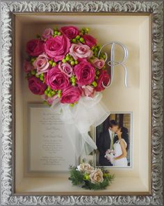Such a beautiful keepsake!!! Preserve your wedding flowers and have them framed to enjoy for years and years to come! www.freezeframeit.com