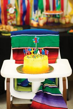 Opt for darker, more vibrant colors for a little boy's first birthday fiesta! | via @hwtm