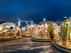 You Can Dine in an Igloo by London's River Thames This Winter