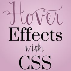 Interested in learning more about CSS? Learn how to create some wicked cool hover effects with CSS. Thanks @CodeitPretty !