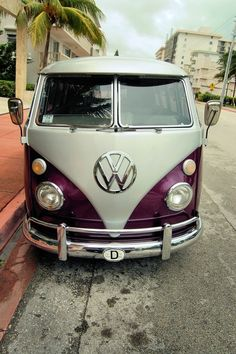 purple vw bus I need one of these!