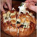 Pain apéritif au fromage et à l'ail, le