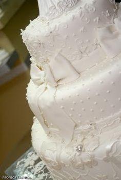 bolo cenografico casamento com renda - Pesquisa Google