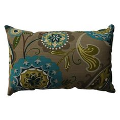 Pillow Perfect Merrimack Suzani Rectangular Throw Pillow   Overstock.com Shopping - Great Deals on Pillow Perfect Throw Pillows