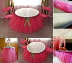 DIY Tutu Skirt Tutorial for Your Bed and Table - http://www.amazinginteriordesign.com/diy-tutu-skirt-tutorial-bed-table/