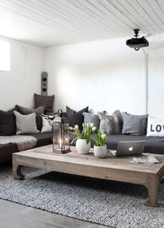 Masculine minimal bachelor decor
