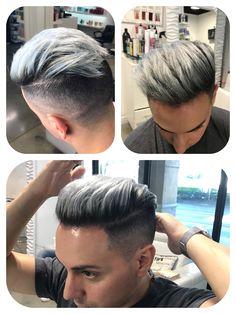 Men hairstyle ideas extra hair styles, hair 2018 и hair cuts Hair And Beard Styles, Short Hair Styles, Dyed Hair Men, Mens Hair Colour, Temporary Hair Color, Slicked Back Hair, Hair 2018, Cool Hairstyles, Hairstyles 2018