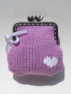 heart coin purse-great to use old favorite sweater that you don't wear anymore, or grow out of