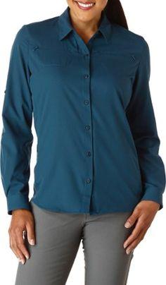 REI Co-op Women's Sahara Long-Sleeve Shirt Midnight Sky XS
