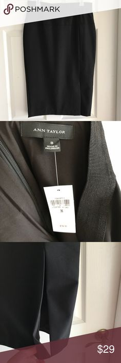 Ann Taylor Black midi Pencil Skirt Look like the vavavoom secretary with this Ann Taylor Black midi Pencil Skirt. Form fitting and flattering with a structured yet stretchy fabric. Has a   sash that sits higher at the waist. Also a slit at the knee as pictured. Skirt is new with tags. A wardrobe must have! Measurements as pictured. Last phot for styling inspiration only. I️ love to answer questions and always consider reasonable offers. Ann Taylor Skirts Midi