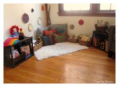 Designing Reading Spaces | Simple Ideas for being intentional with your space for children. Beautiful Reading Area!