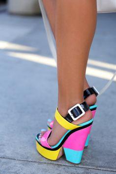 VivaLuxury - Fashion Blog by Annabelle Fleur: SUNDAYFUNDAY - Giuseppe Zanotti color block sandals. ♡ SL