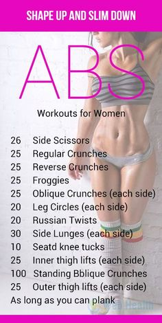 Shape up and slim down at home. #ab_workouts