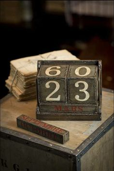 Vintage calendar -  becoming popular again