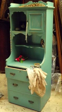 Painted Antique Dresser In Verdigris By Glittercross Co Uk Http
