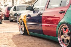 Golf Mk3, colourful...