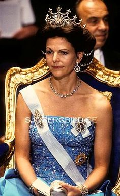 Queen Silvia wore this tiara for the 1989 Nobel Prize Ceremony and Dinner.