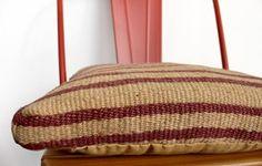 Medee Chair Cushion in Burgundy
