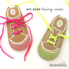 Help kids learn to tie their shoes with these easy DIY shoe lacing cards