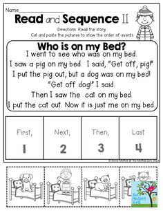 Read and Sequence- Short stories to help children practice identifying the order of events. TONS more activities in the NO PREP Packet for January!