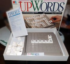 Vintage c.1989 UPWORDS board game made by Hasbro by BuyfromGroovy