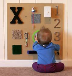 DIY Baby Sensory Boards = Perfect #Nesting Project