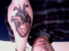 anatomical heart tattoo | in grays