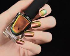 Amazon.com : ILNP Nostalgia - Copper, Gold, Red, Bronze, Green Ultra Chrome Color Shifting Nail Polish : Beauty